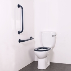 Image for Nymas NymaPRO Close Coupled Ambulant Doc M Toilet Pack Mild Steel Rail White - AMBCC/WH