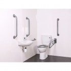 Image for Nymas NymaPRO Close Coupled Doc M Toilet Pack Mild Steel Rail Grey - DMCC/GY