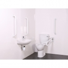 Image for Nymas NymaPRO Close Coupled Doc M Toilet Pack Mild Steel Rail White - DMCC/WH