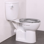 Nymas NymaPRO Close Coupled Ware Set With Close Coupled Pan, Cistern & Fittings Grey Toilet Seat - WARESET GY
