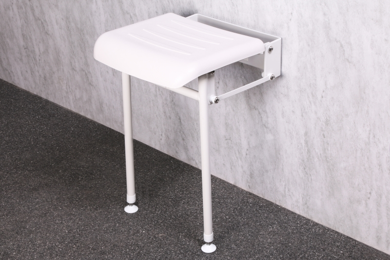 Nymas Nymapro Compact Padded Hinged Shower Seats With Legs Disabled Bathrooms