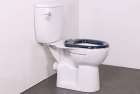 Image for Nymas NymaPRO Close Coupled Ware Set With Close Coupled Pan, Cistern & Fittings Dark Blue Toilet Seat - WARESET/DB