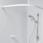 Image for Nymas NymaPRO L-Shaped Shower Curtain Track - 1500mm x 1200mm - White - 130303/WH