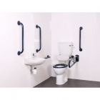 Image for Nymas NymaPRO Low Level Doc M Toilet Pack Mild Steel Rail Dark Blue - DMLL/DB