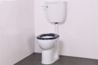 Image for Nymas NymaPRO Low Level Ware Set With Low Level Pan, Cistern & Fittings Dark Blue Toilet Seat - LLWARESET/DB