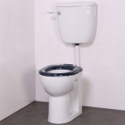 Image for Nymas NymaPRO Low Level Ware Set With Low Level Pan, Cistern & Fittings White Toilet Seat - LLWARESET/WH