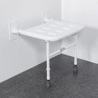 Image for Nymas NymaPRO Wall Mounted Shower Seat With Legs White - 130202/WH