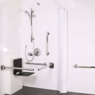 Image for Nymas NymaStyle Concealed Valve Luxury Doc M Shower Pack With Slimline Seat Polished Stainless Steel - 321104/SP