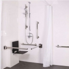 Image for Nymas NymaStyle Exposed Valve Luxury Doc M Shower Pack With Slimline Seat Satin Stainless Steel - 321105/SS
