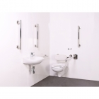 Image for Nymas NymaSTYLE Luxury Wall Hung Doc M Toilet Pack - Satin - 320104/SS