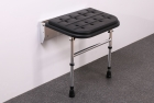 Image for Nymas NymaSTYLE Premium Padded Shower Seat With Legs Black - 335002/BL