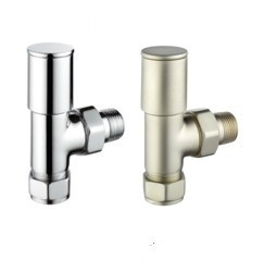 Pegler Terrier Decor Angled Minimalist Manual Radiator Valve Pairs
