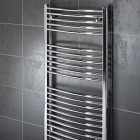TowelRads Pisa Curved Chrome Towel Rail