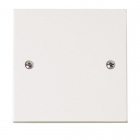 Image for Polar 1 Gang Blanking Plate White - PRW060