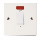 Image for Polar 1 Gang Double Pole Switch with Neon - PRW501