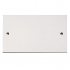 Image for Polar 2 Gang Blanking Plate White - PRW061