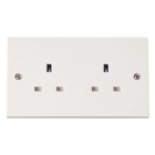 Image for Polar 2 Gang Unswitched Socket - PRW032