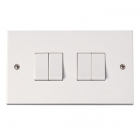 Image for Polar 4 Gang 2 Way Plate Switch - PRW019