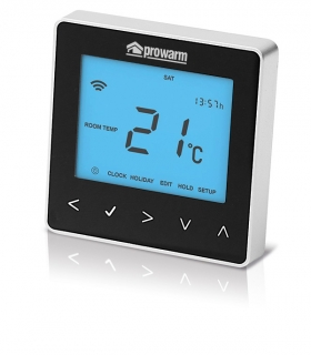 Prowarm™ Pro IQ Digital Programmable Touchscreen Thermostat - Black