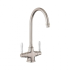Image for Rangemaster Belfast Dual Lever Kitchen Mixer Tap Brushed - TBM1BF/