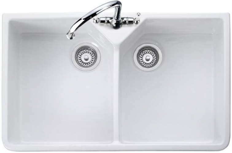 Rangemaster Double Bowl CDB800WH Ceramic Kitchen Sink Home Design Ideas