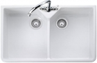 Rangemaster Double Bowl CDB800WH Ceramic Kitchen Sink