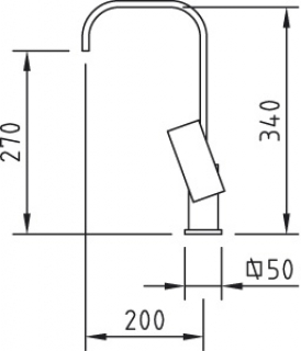 Reginox Plaza Chrome Brushed Steel Kitchen Tap Technical Drawing