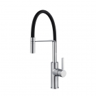 Image for Reginox Aurora Single Lever Chrome Pull Out Spray Kitchen Mixer Tap With Black Hose. - AURORA CH