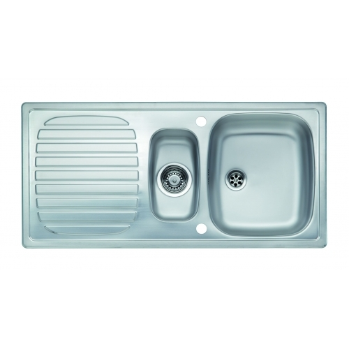 Large Stainless Steel Sinks Uk : Reginox Comfort Prince R1.5 Stainless Steel Inset Kitchen Sink