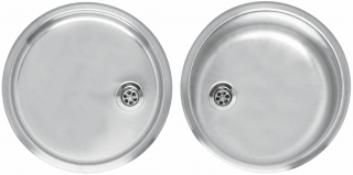 Reginox Comfort Round Bowl Set Stainless Steel Inset Kitchen Sinks