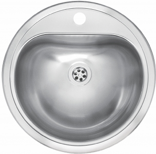 Reginox Commercial Atlantis Stainless Steel Integrated Sink Without Overflow
