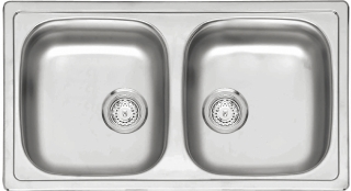 Reginox Commercial BETA20BAPKG-H Stainless Steel Inset Sink