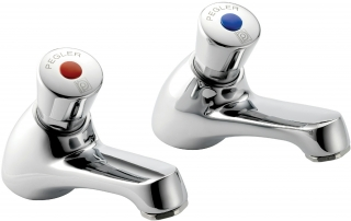 Reginox Commercial Mistral Push Top Pillar Taps