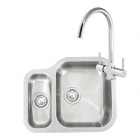 Reginox Elegance Alaska Right Hand Kitchen Sink with Thames Tap