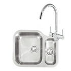 Image for Reginox Elegance Alaska Left Handed Kitchen Sink with Thames Tap - ALASKAMBL/THAMES