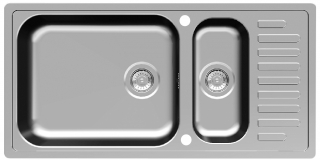 Reginox Elegance Minister 25 Reversible Stainless Steel Kitchen Sink