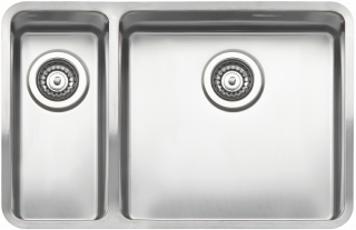 Reginox Elite Ohio 18x40-40x40 L Stainless Steel Integrated Kitchen Sink