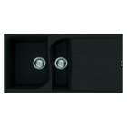 Image for Reginox Elleci Ego 475 Granite Kitchen Sink Black EGO475 B