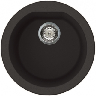 Reginox Elleci Fox Round Granite Kitchen Sink Black