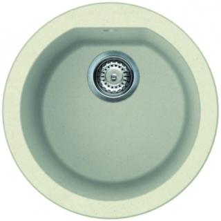 Reginox Elleci Fox Round Granite Kitchen Sink Cream