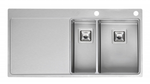 Reginox Nevada 18-30 Right Integrated Stainless Steel Kitchen Sink