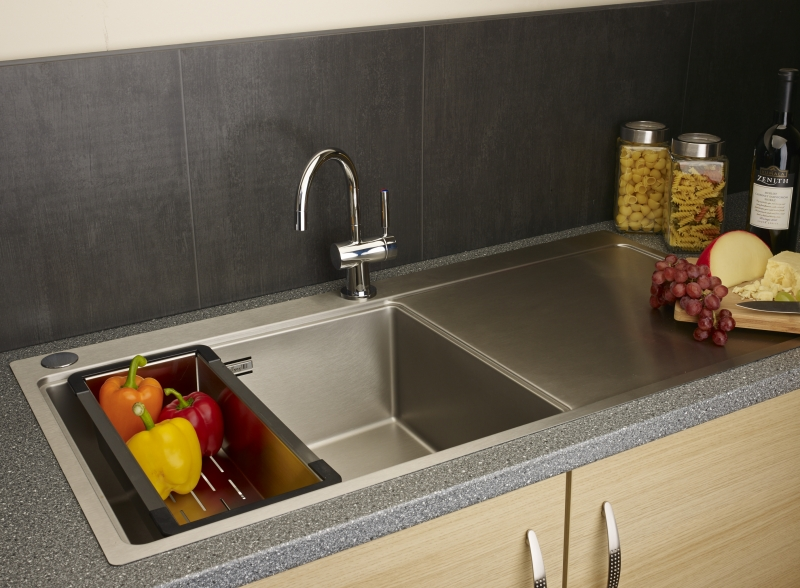 Reginox Nevada 50 Left Integrated Stainless Steel Kitchen Sink ...