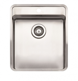Reginox Ohio 40x40 Tapwing Integrated Stainless Steel Kitchen Sink