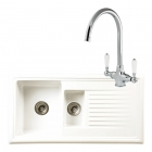 Reginox Regi-Ceramic RL301CW Kitchen Sink With Elbe Tap