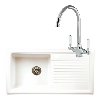Reginox Regi-Ceramic RL304CW Kitchen Sink With Elbe Tap