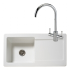 Reginox Regi-Ceramic RL504CW Kitchen Sink With Genesis White Tap