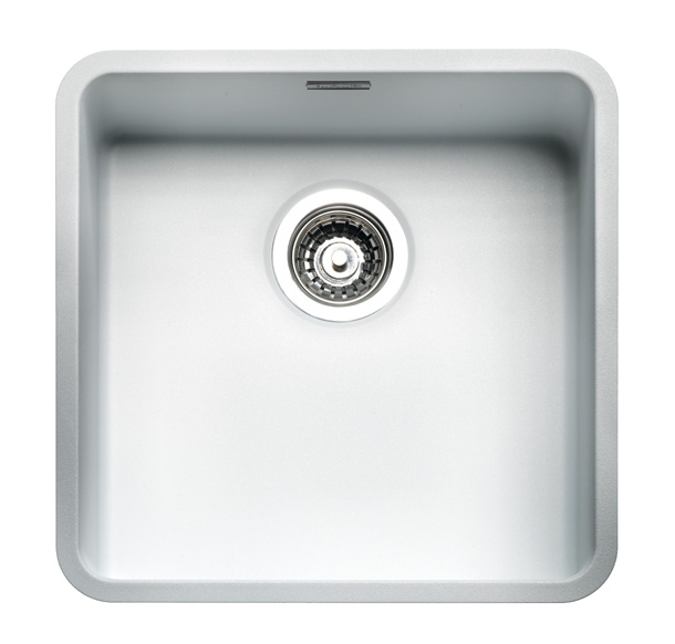 Reginox regi color ohio 40x40 coloured stainless steel for Colored stainless steel sinks