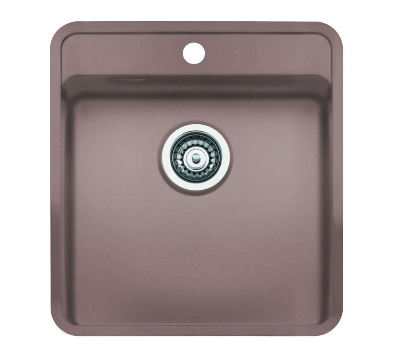Reginox regi color ohio 40x40 tapwing coloured stainless for Coloured kitchen sinks