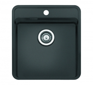 Reginox Regi Color Ohio 40x40 Tapwing Kitchen Sink Midnight Sky