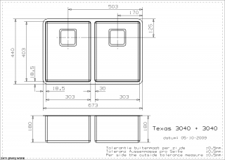 Reginox Texas 30x40+30x40 Integrated Stainless Steel Kitchen Sink